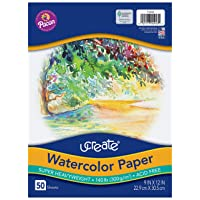 UCreate Watercolor Paper, White, Package, 140 lb., 9