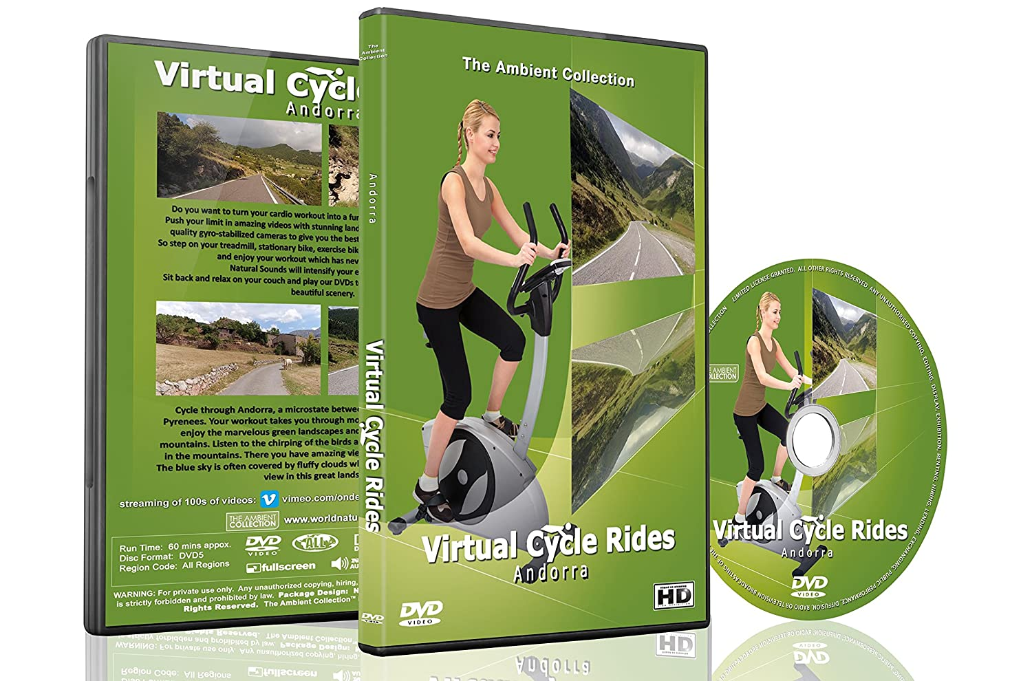 Amazon.com: Virtual Cycle Rides DVD - Andorra - for Indoor Cycling, Treadmill and Running Workouts: The Ambient Collection, Treadmill and Fitness Exercise ...