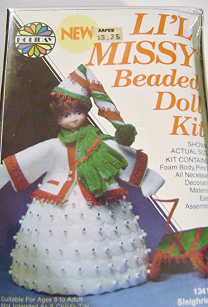Amazon com: Vintage Walco Holiday Lil Missy Beaded Doll Kit