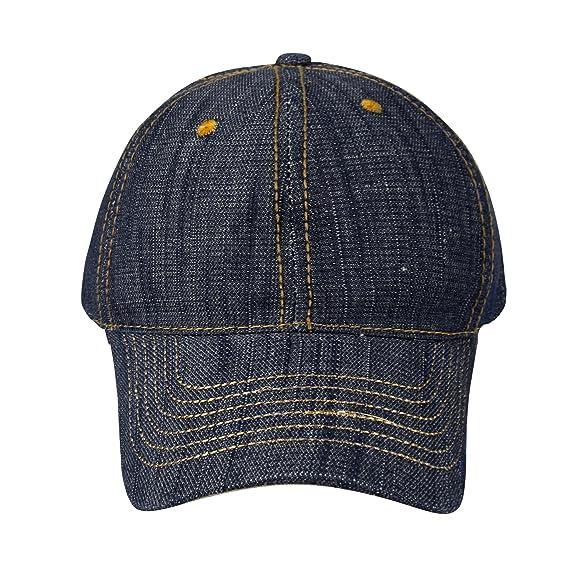 f1d5243b61542 Peach Couture Unisex Sun Hats Washed Denim Hat Sports Baseball Cap Dark  Denim