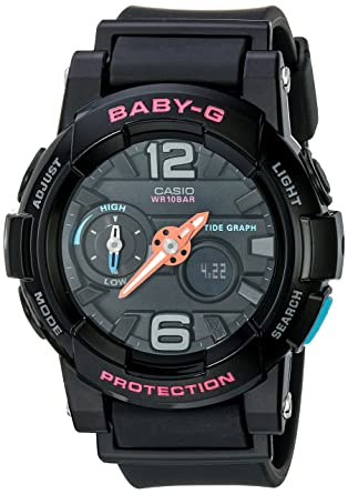 321a46403 Amazon.com: Casio G-Shock Womens BGA180 Glide with Tide Graph Baby-G Series  Designer Watch Black One Size: Casio: Watches