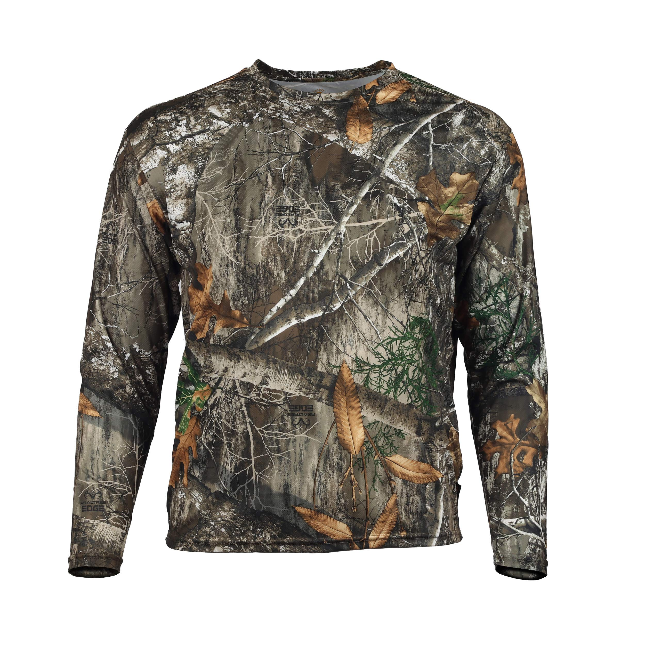 Gamehide ElimiTick Long Sleeve Tech Shirt (Realtree Edge, 4X-Large) by Gamehide