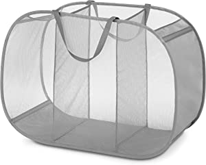 Whitmor Pop & Fold Laundry Sorter, Paloma Gray