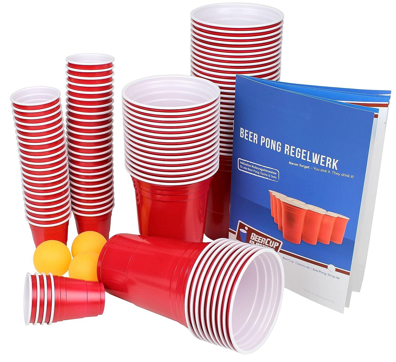Ultimate Beer Pong Fiesta Del Con Paquete 50 Vasos Rojos Con Del