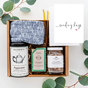 UnBoxMe Get Well Care Package For Men   Birthday Gift For Men   For Dad or Boyfriend   Cancer Gift, Sobriety Gift, Condolence Gift, Sympathy Gift (Sending Hugs Card)