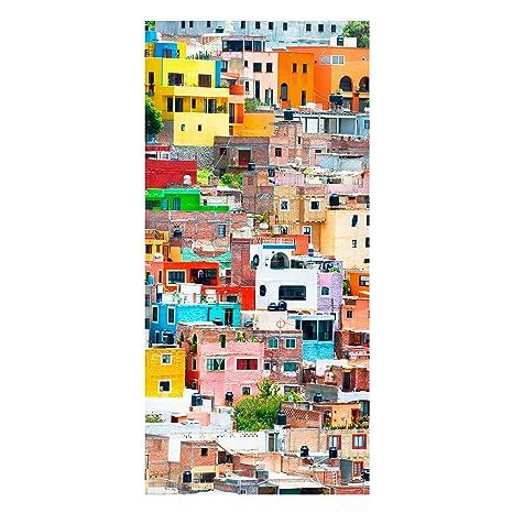 Bilderwelten - Pizarra magnética - Casas de colores Frontal ...