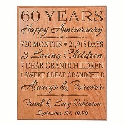 4de7470978a2 Amazon.com  LifeSong Milestones Personalized 60th for him her Couple Parents