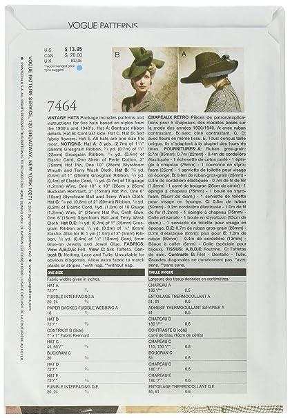 Vogue V7464 Schnittmuster zum Nähen, Elegant, Extravagant, Modisch ...