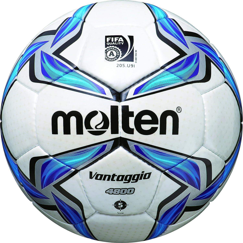 MOLTEN Fußball F5V4800 - Balón de fútbol, Color (weiß/Blau/Silber ...
