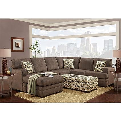 Amazon.com: Sofa Trendz Boston Sectional with Ottoman Set: Kitchen ...