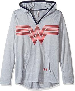 84f19350 Under Armour Girls' Alter Ego Wonder Woman Short Sleeve, Red (600 ...