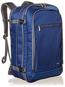 AmazonBasics Carry-On Travel Backpack, Navy