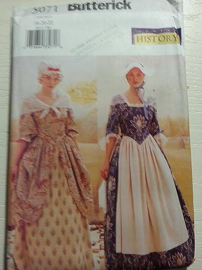 Amazon.com: Butterick Making History Costume Sewing Pattern #3071 ...