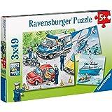 Ravensburger - 09221 5 - Puzzle - Forces De Police - 3 x 49 Pièces
