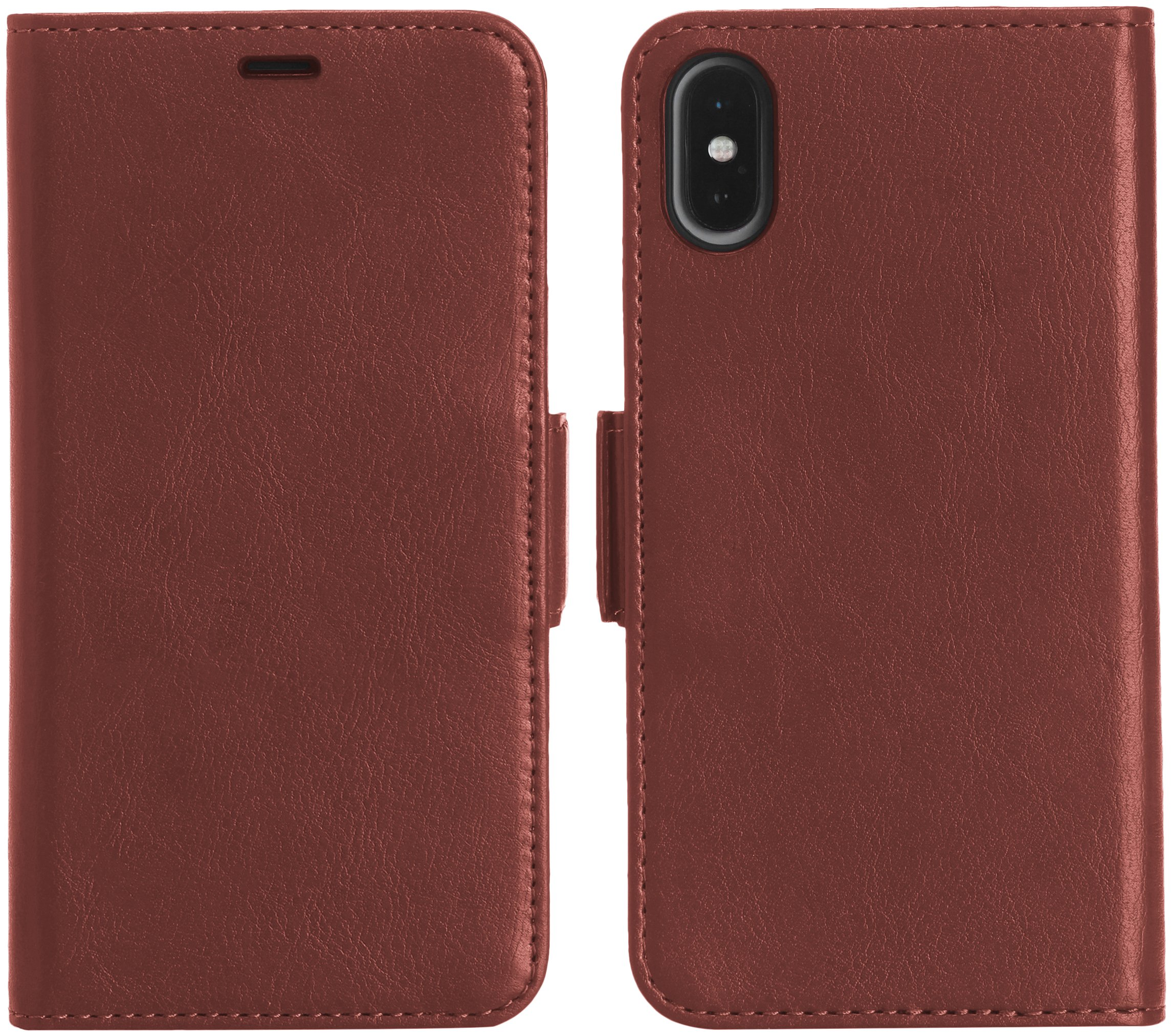 AmazonBasics iPhone X PU Leather Wallet Detachable Case, Dark Brown by AmazonBasics (Image #4)