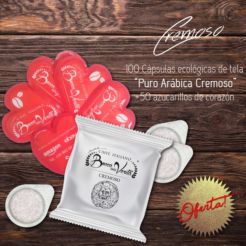 Caffè Italiano Bocca Della Verità Cialde CREMOSO - de 100 cápsulas - compatible ESE dm 44 mm