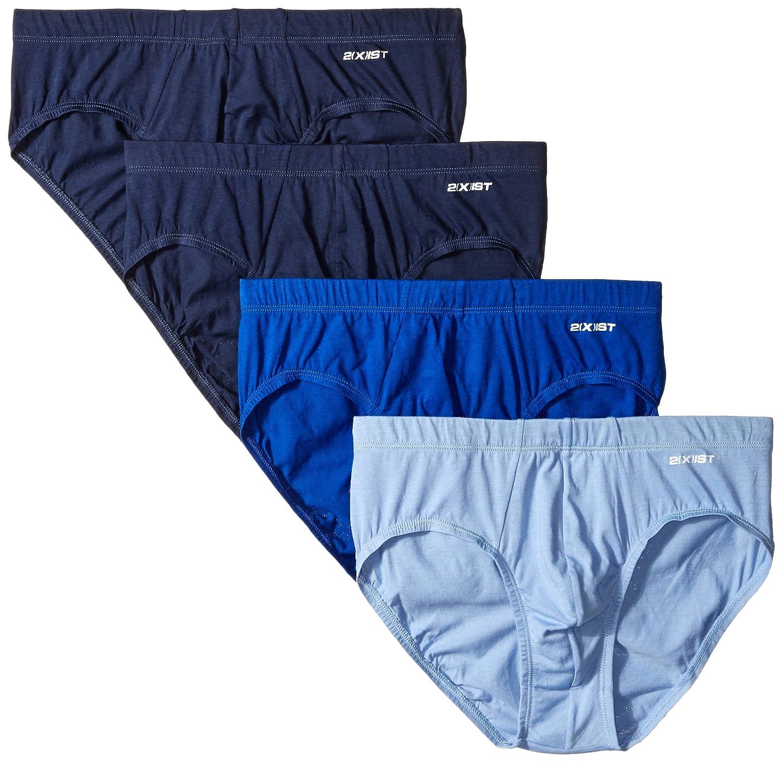 2(x)ist Men's 4-Pack Essential Bikini Brief 2(x)ist Men' s Underwear 20432
