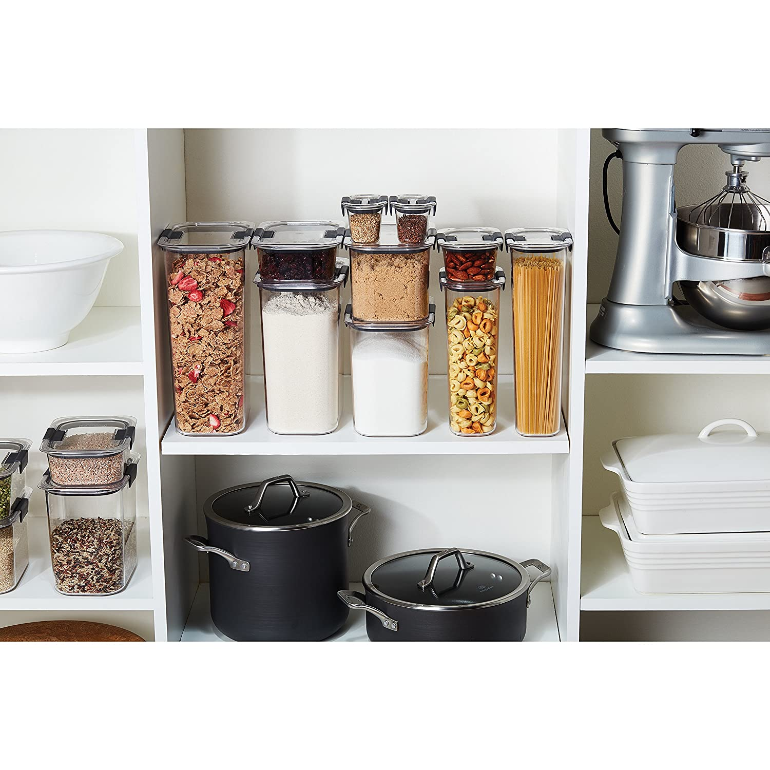 Amazon.com Rubbermaid Brilliance Pantry Airtight Food Storage Container BPA-Free Plastic 8.1 Cup Kitchen u0026 Dining  sc 1 st  Amazon.com & Amazon.com: Rubbermaid Brilliance Pantry Airtight Food Storage ...
