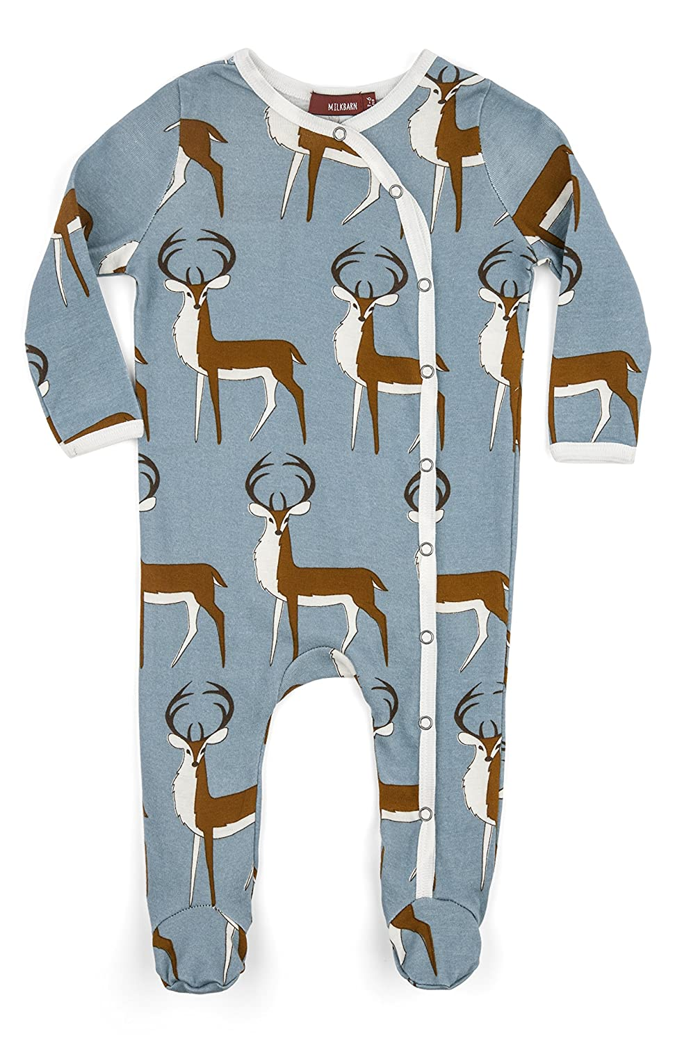 5e88c2dc8 Amazon.com  Milkbarn Long Sleeve Organic Footed Romper