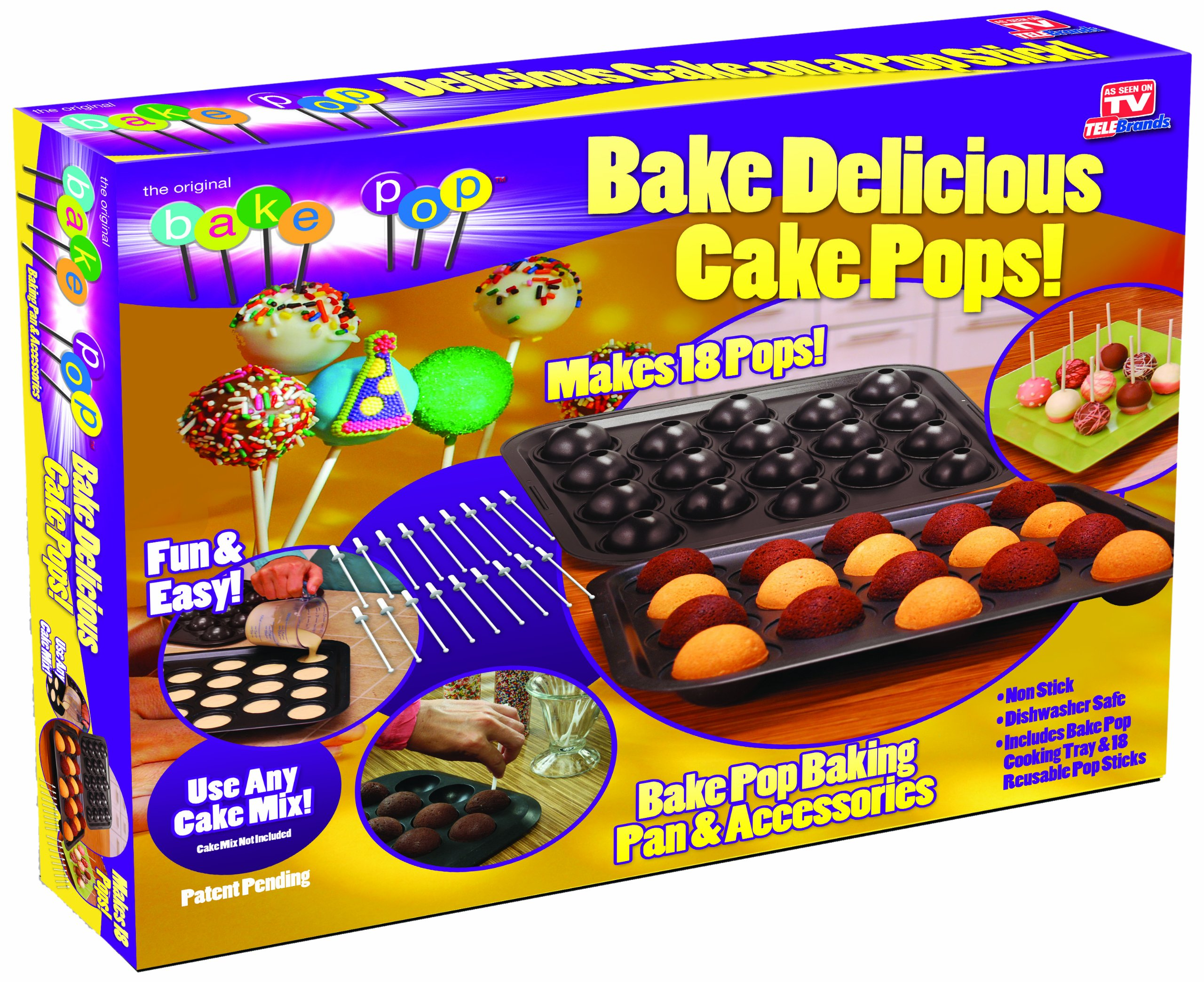 Telebrands 5720-12 Bake Pop: Cake Pops Baking Pan & Accessories by Telebrands