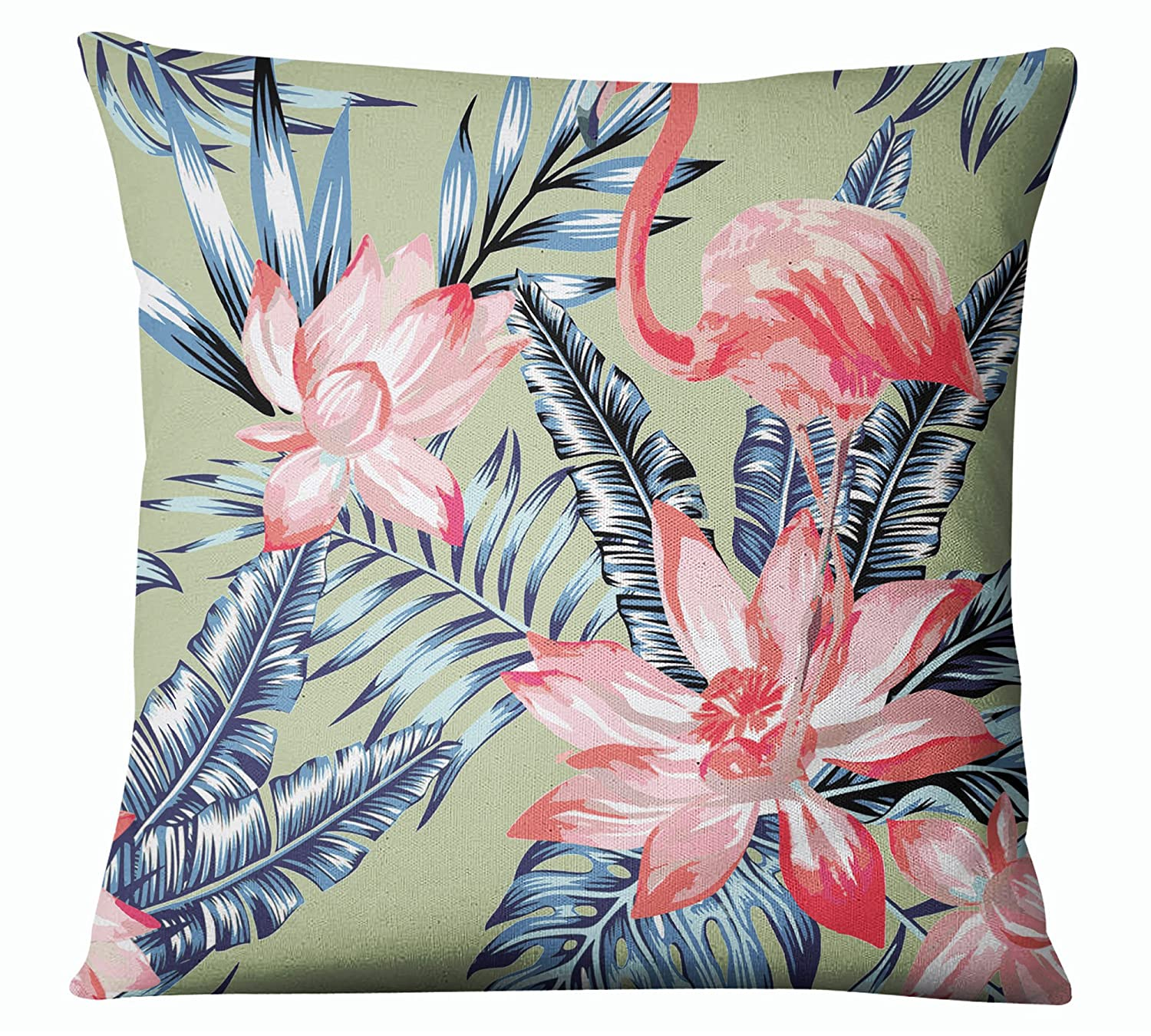 Amazon.com: s4sassy decorativo Flamingo impresión menta ...