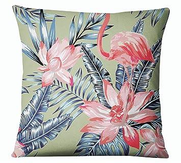Amazon.com: s4sassy decorativo Flamingo impresión menta ...
