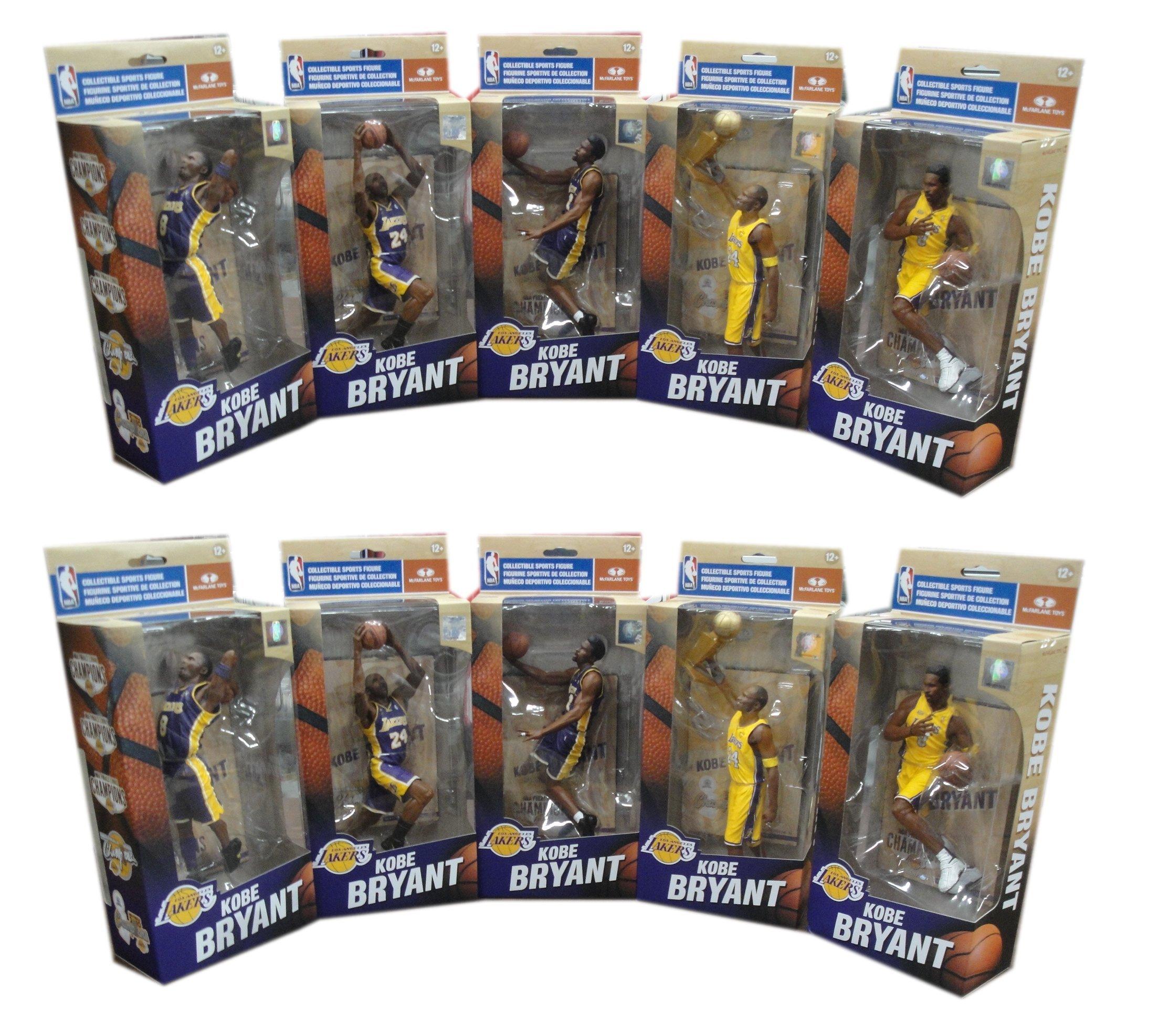 Kobe Bryant 10 NBA Finals Lakers McFarlane Championship Series Figure Set/3000