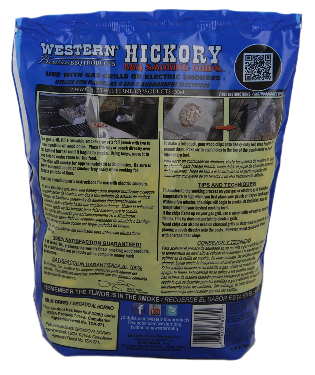 Amazon.com : Western Premium BBQ Products Hickory Smoking Chips, 6 Pack : Smoker Chips : Garden & Outdoor