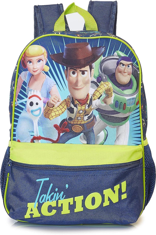 Toy Story 4 Forky Mochila Para Niños Con Personajes Oficiales De Toy Story | Forky Woody, Buzz, Bo Peep | Bolsa De Viaje De Disney | Talla Única Para Todos