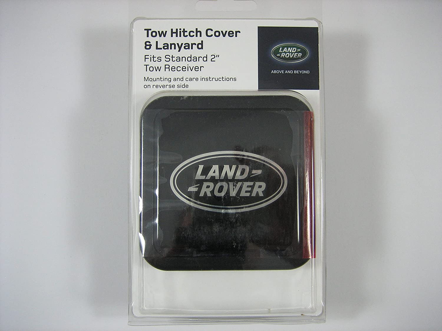 Genuine Land Rover Logo Tow Hitch Plug Cover with Lanyard