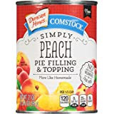 Duncan Hines Comstock Simply Pie Filling, Peach, 21 Ounce (Pack of 8)