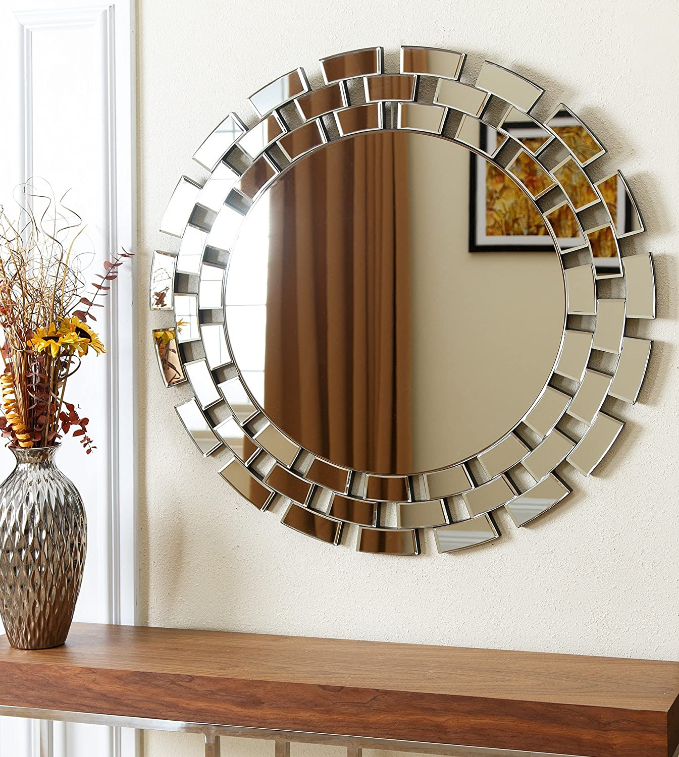 Amazon.com: Abbyson Zen Round Wall Mirror: Home & Kitchen