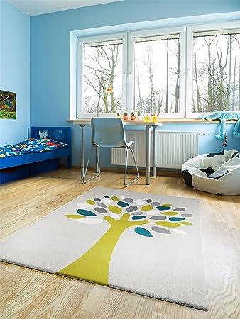 Benuta Teppiche: Kinderzimmer Kinderteppich Magic Tree Grün 140x200 Cm    GuT Siegel   100