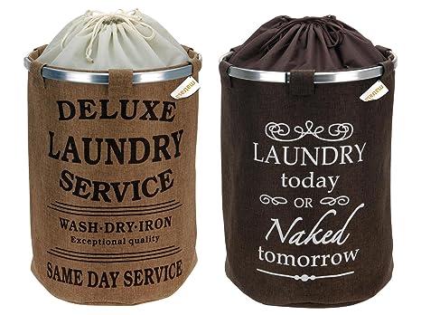 Cesto para la ropa sucia de yute para la suciedad de la ropa ...