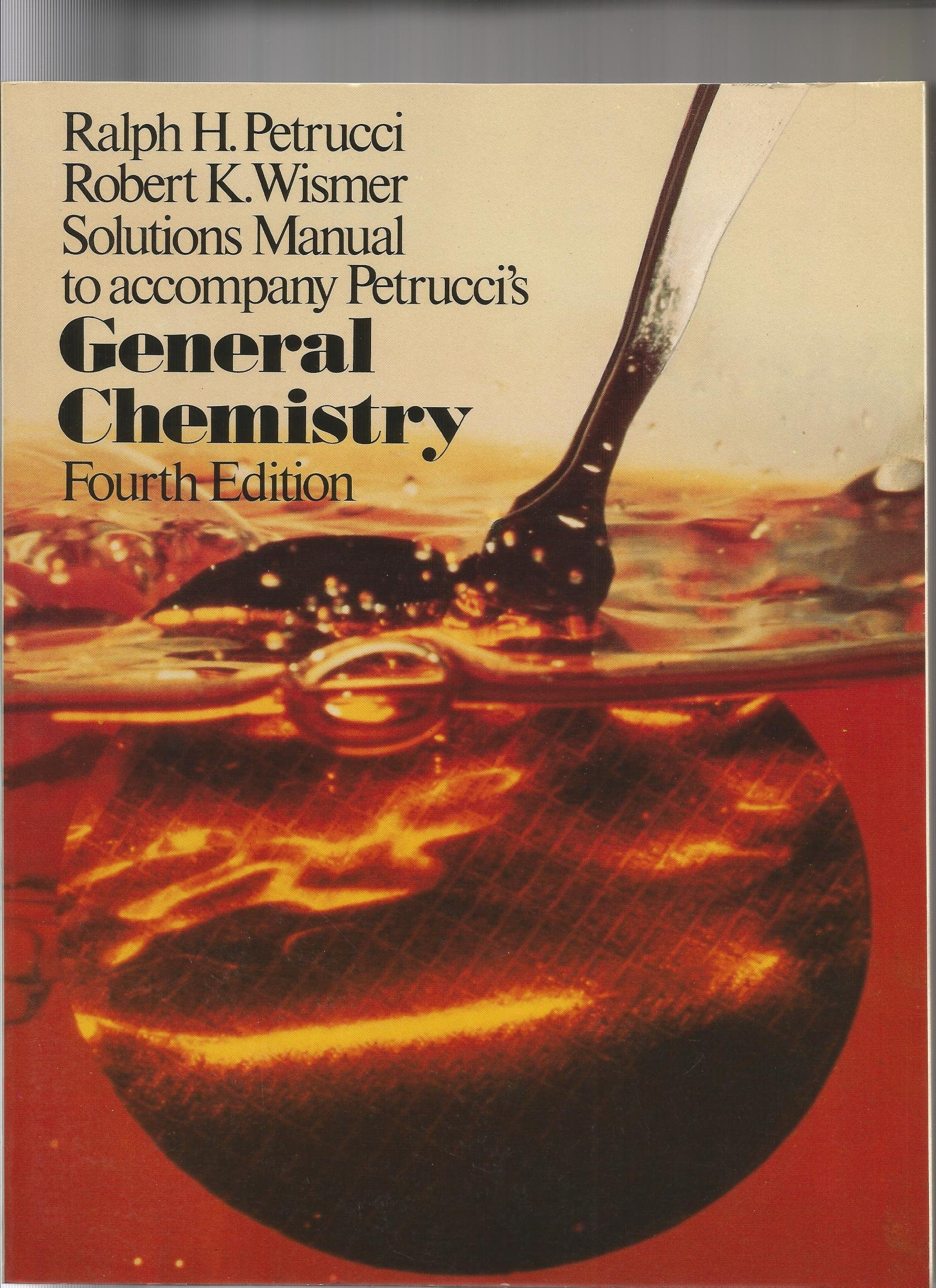Solutions manual to accompany Petrucci's General chemistry: Amazon.co.uk:  Ralph H Petrucci: 9780023945403: Books