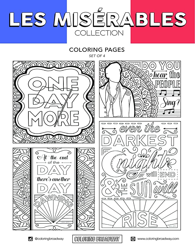 Amazon.com : Coloring Broadway Les Miserables Card stock Coloring ...