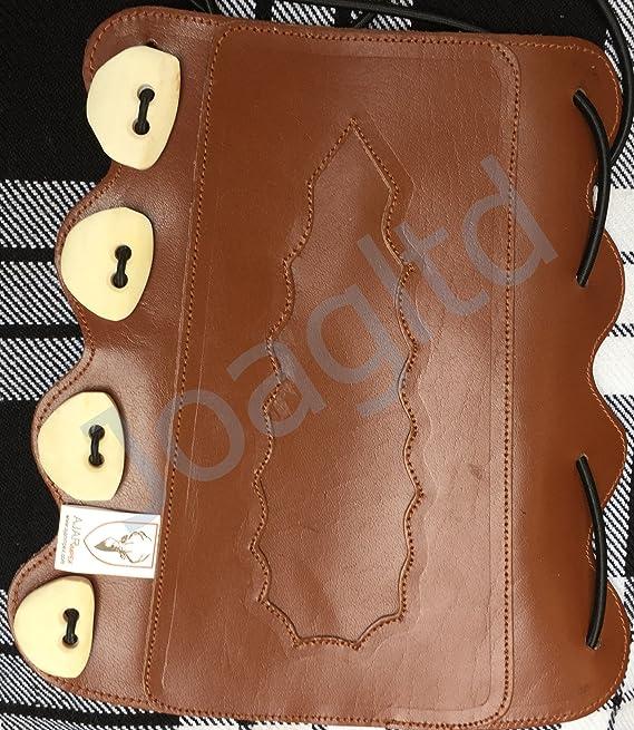 Archery Bone Buttons arm guard leather 100/% Real Bone Buttons ARCHERS ARM BRACER