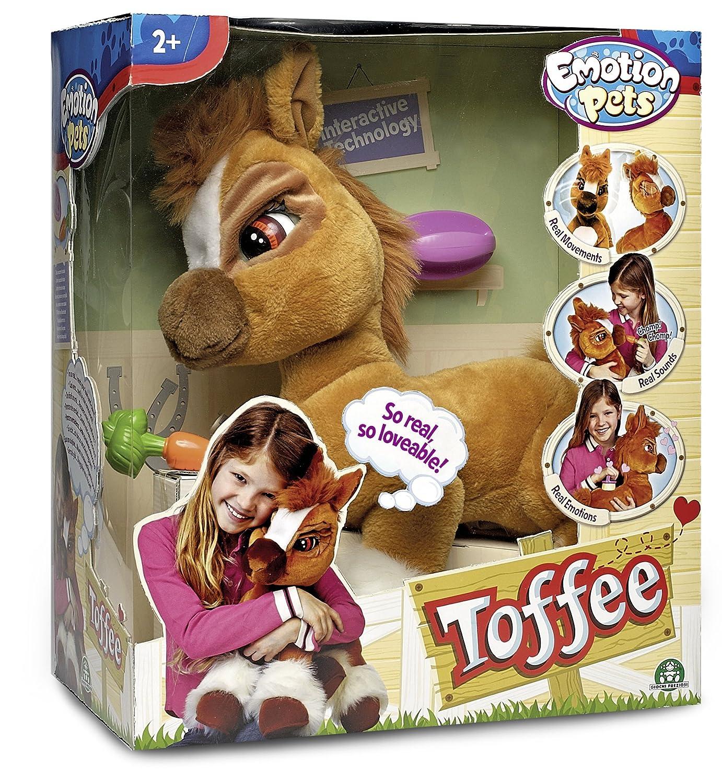 Giochi Preziosi 70606001 - Emotion Pets - Toffee, Plüschpony mit Funktion, 50 cm Plüschpony mit Funktion Pferde