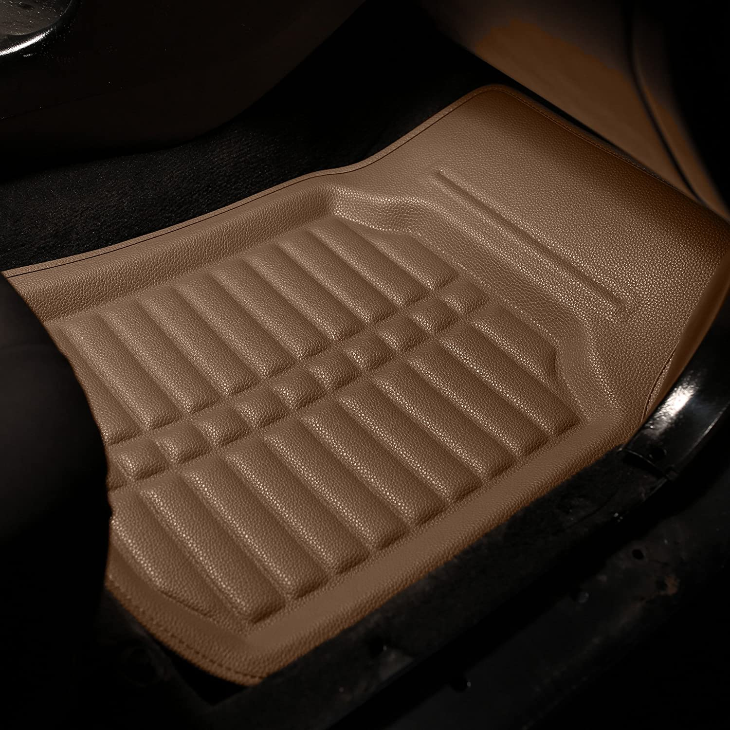 FH Group F14409REDBLACK-FRONT-AVC Floor Mat Front Set Only Red and Black s Deep Tray All Weather