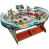Disney Pixar Cars 3 75-Pieces Florida International Speedway with Lightning McQueen, JakcsonStorm and the Rest of the Gang, MORE than 21 Feet of Track, Built-in Storage Bins