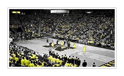 amazon com michigan college basketball touch of color 40x22