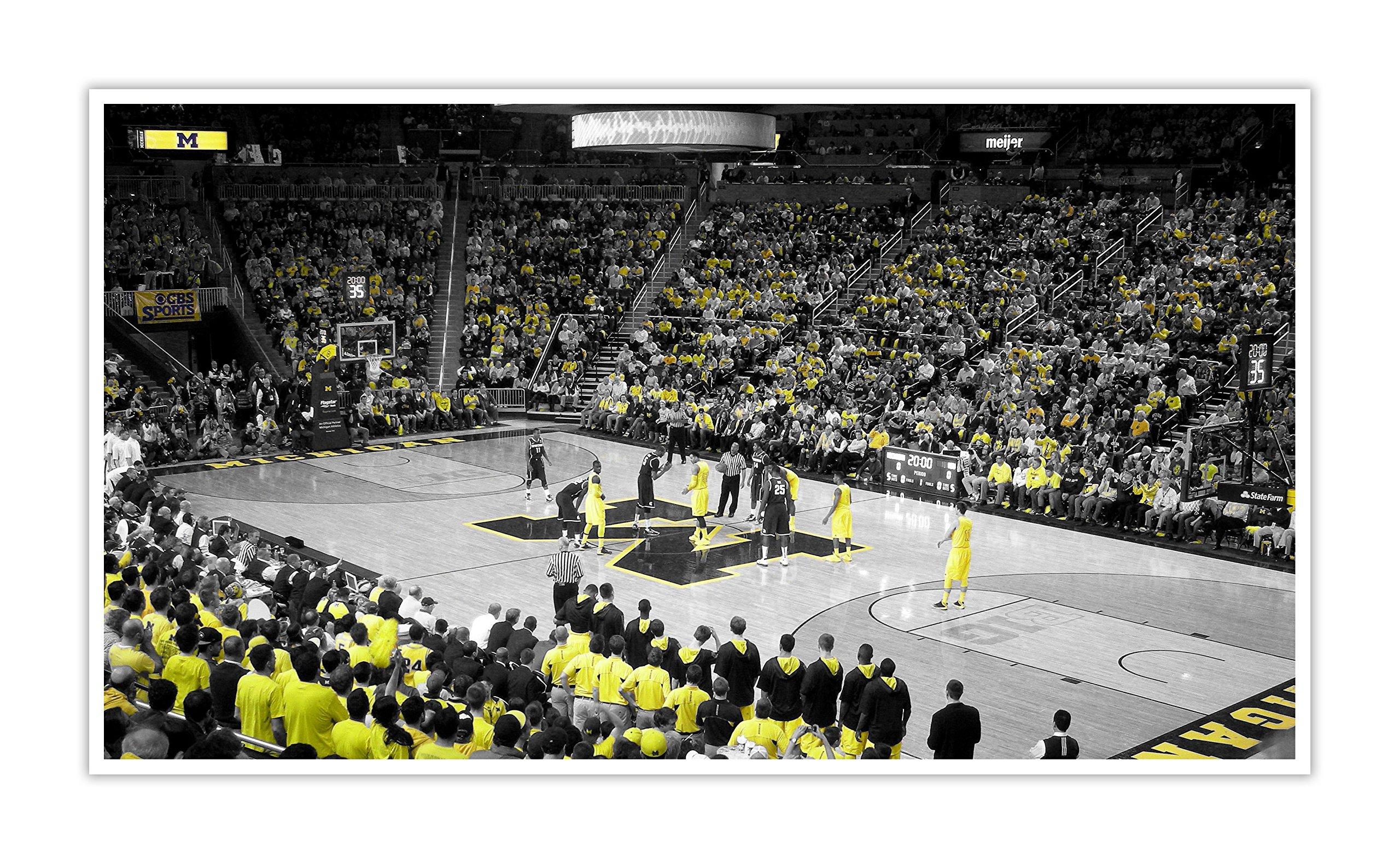 Michigan - College Basketball Touch of Color - 40x22 Matte Poster Print Wall Art ToC
