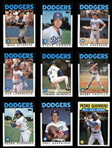 1986 Topps Los Angeles Dodgers Almost Complete Team Set Los Angeles Dodgers (Set) NM/MT Dodgers