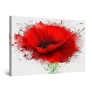 Startonight Impression sur Toile Peinture Fleurs Rouge de Pavot ...