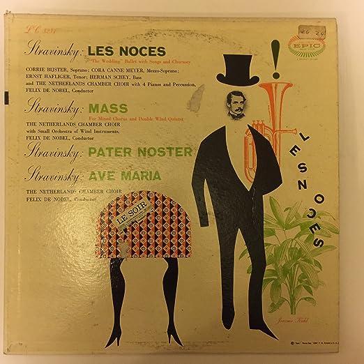 Cora Menu De Noel.Igor Stravinsky Felix De Nobel The Netherlands Chamber