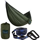 Esup Single & Double Camping Hammock -Lightweight Nylon Portable Hammock, Best Parachute Hammock with Tree Straps for…
