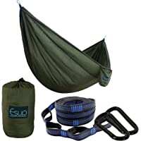 Esup Single & Double Camping Hammock -Multifunctional Lightweight Nylon Portable Hammock, Best Parachute Hammock with Tree Straps for Backpacking, Camping, Travel