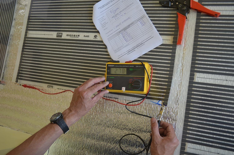 Heating floor Bois ou Stratif/é 220W//m2 20m2 Kit de /électrique Chauffage au Sol Film Chauffant sous Parquet