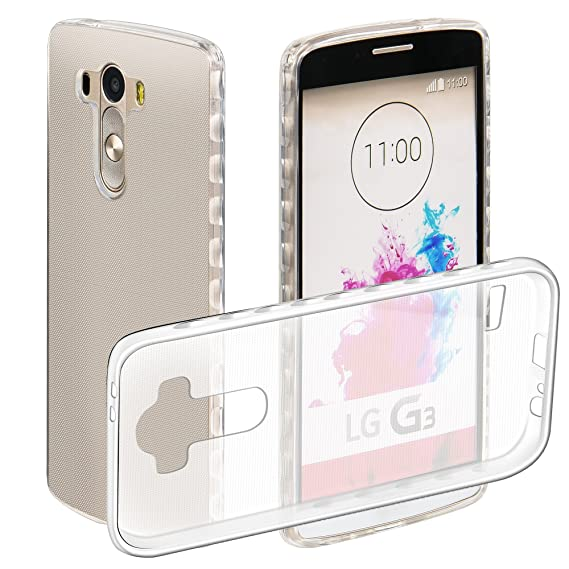 the latest f9279 68421 LG G3 Case, Mellonlu Clear TPU Soft Rubber Shockproof Protective Phone Case  Cover for LG G3