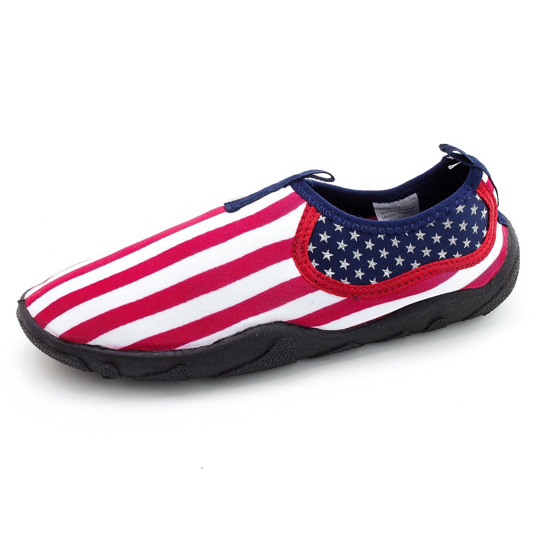 Men's Outdoor Beach Pool Creek Aqua Water Shoes US Flag (Adults)